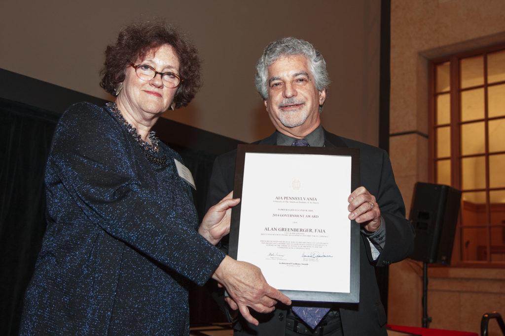 Alan Greenberger, FAIA, wins the 2014 AIA Pennsylvania Government Award