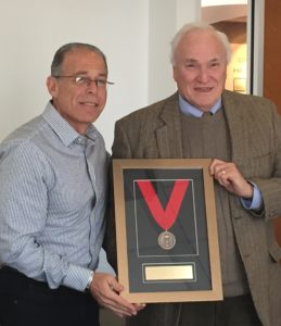 New AIA Pennsylvania Board President, Michael Skolnick, AIA presents Immediate Past President, Howard Quaintance, AIA with 2014 President's Award.