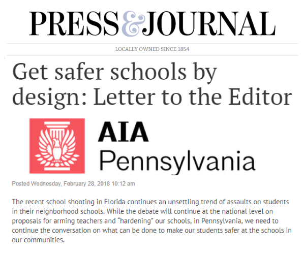 Get safer schools by design | Press & Journal