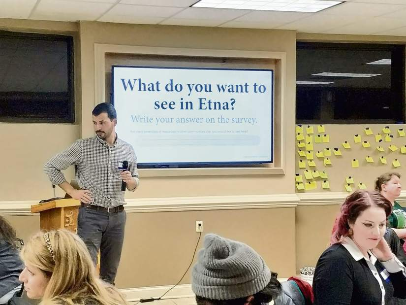 More than 100 attend inaugural Etna Ecodistrict meeting