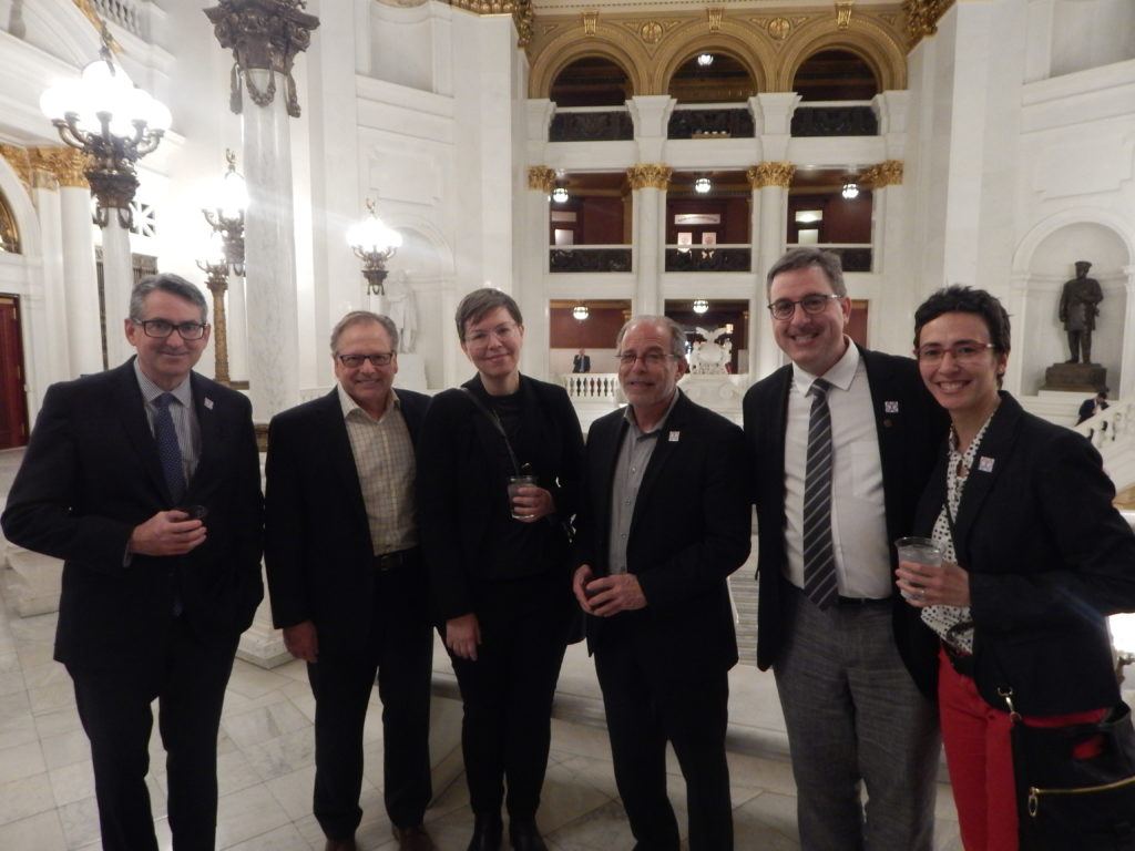 AIA members at the Legislative Reception outside the Lt. Governors Office in the Capitol