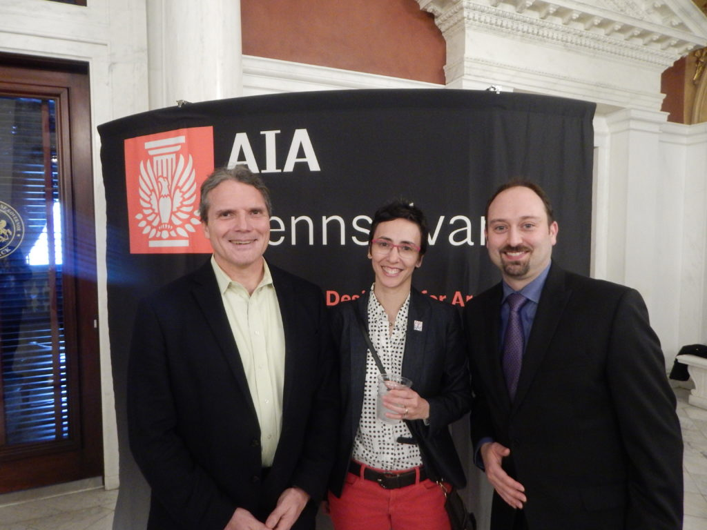 AIA members at the Legislative Reception