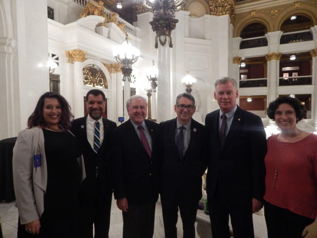 Staff, Members, and Legislators at the Legislative Reception