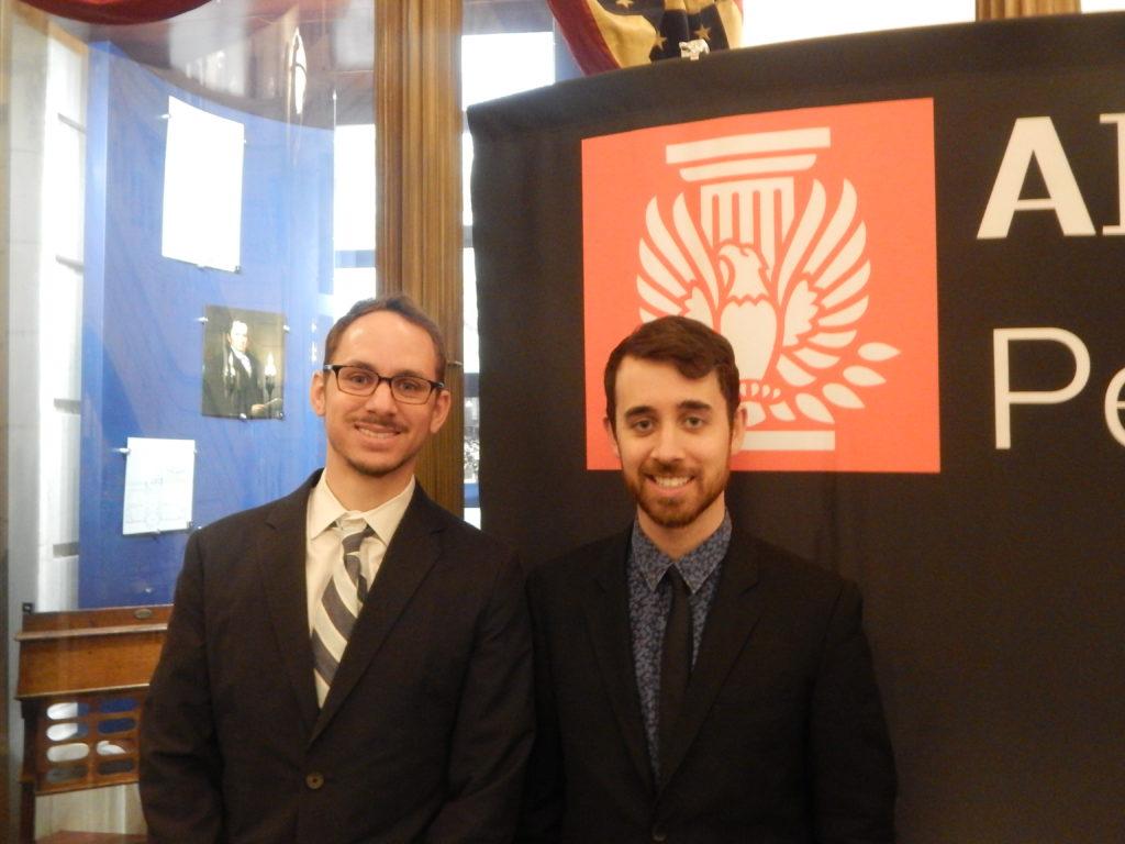 Jeff Pastva, AIA PA Treasurer and David Golden