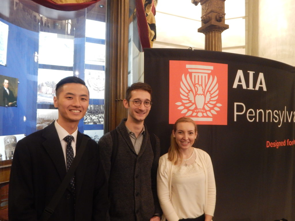Drexel AIAS Students (Left to right: David Lim, Jake Volanski, Juliet Bibla)