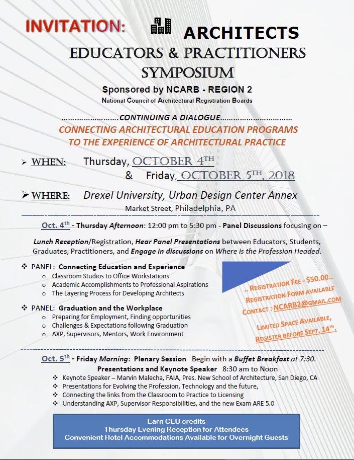 Architects, Educators, and Practitioners Symposium