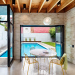 South Side Courtyard House Pool Pavilion & Landscape